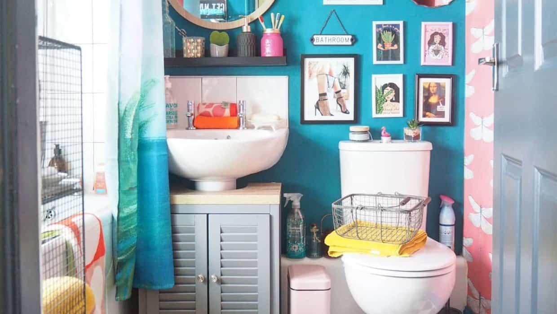صورة حمامك صغير تفضلي افكار لتزيينه 1062 1