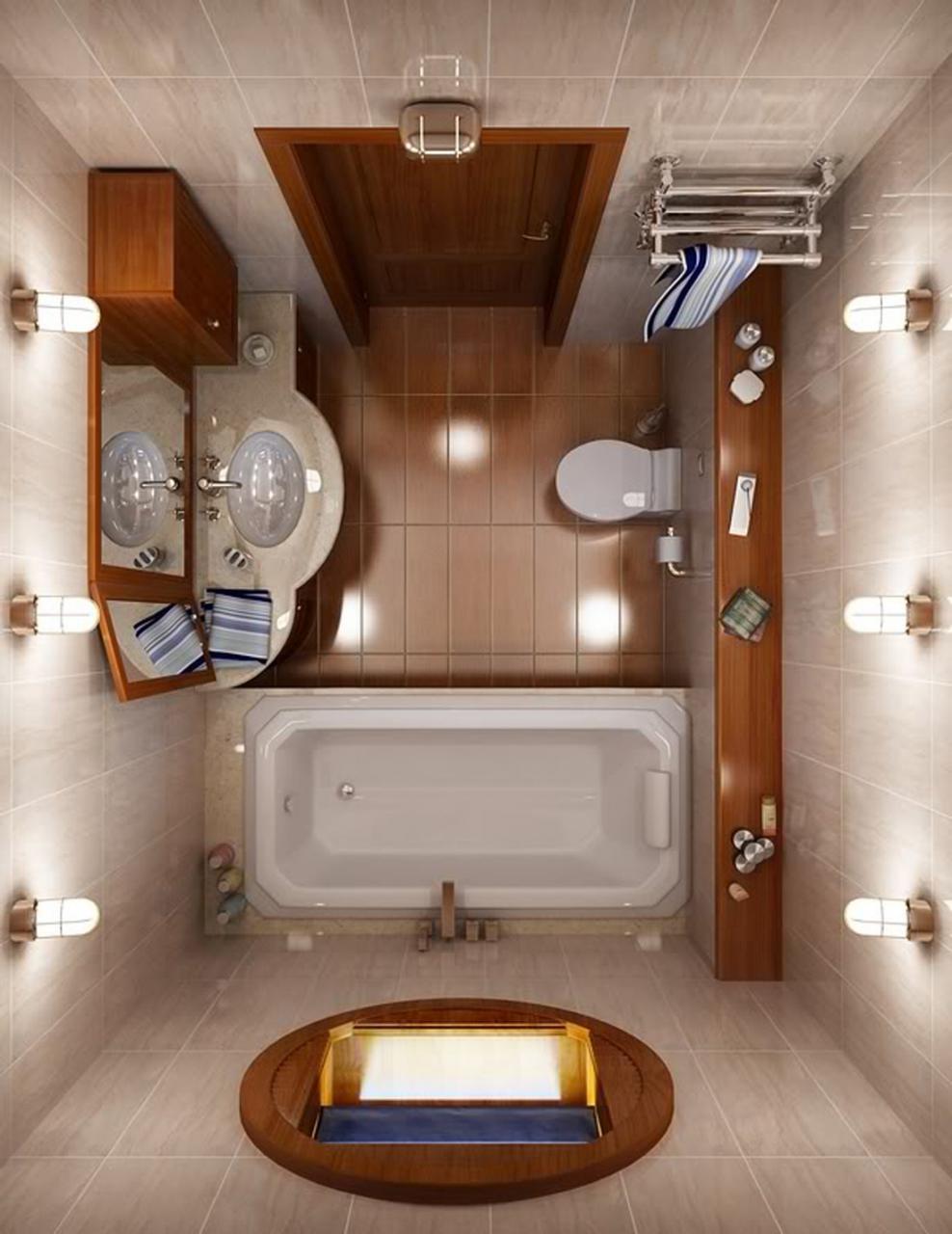 صورة حمامك صغير تفضلي افكار لتزيينه 1062 3
