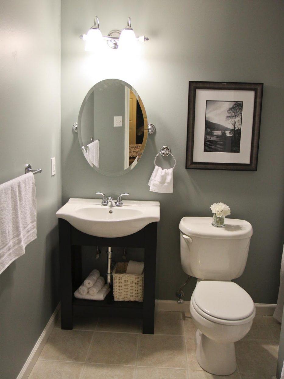 صورة حمامك صغير تفضلي افكار لتزيينه 1062 7